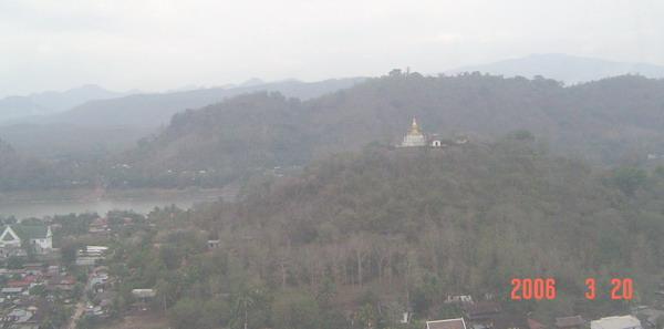 first sighting of Luang Prabang