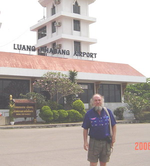 Dave arriving at Luang Prabang