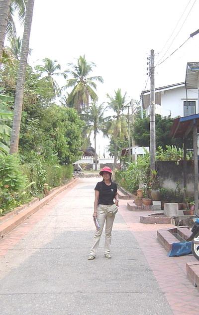 street in front of Vanvisa, looking up towards wat