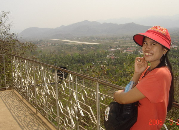 ann on Phu Si looking over airport