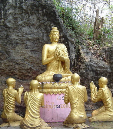 Buddha with followers