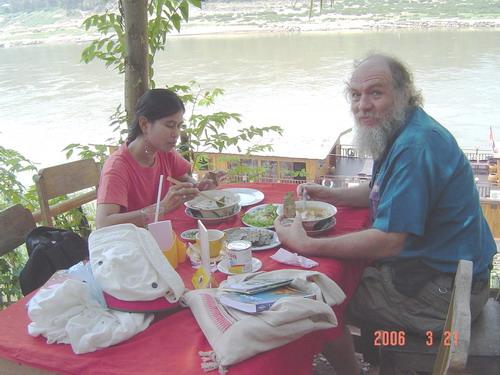 Louis restaurant over the Mekong