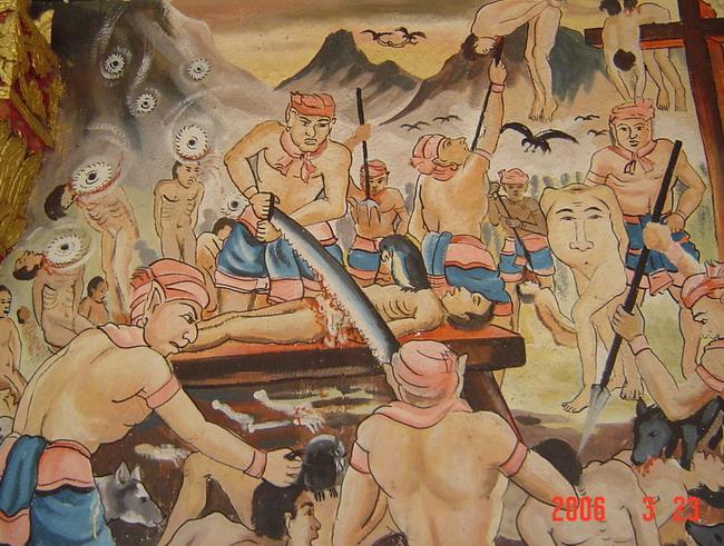paintings on wall at (I think!) wat Xiang thong