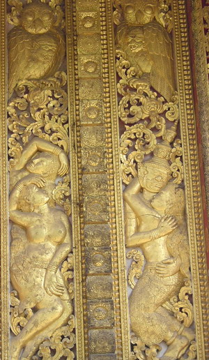door panel carving at the national museum