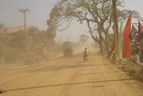the road to the Killing Fields