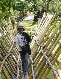 ann on bamboo bridge