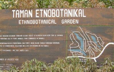ethno-botanical centre sign