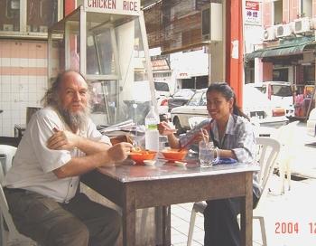 Ann, Dave, lunch in Kuching