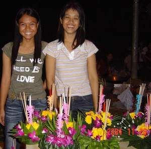 two girls selling gratongs