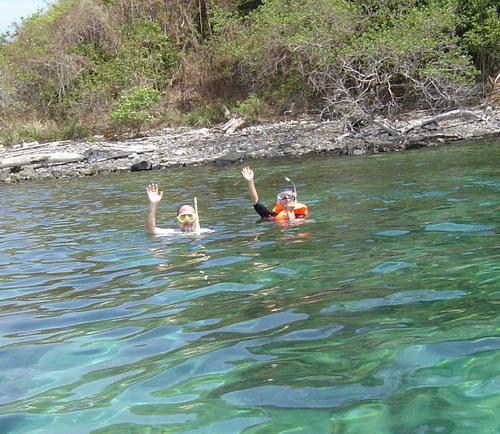 in the water at Ko Hin Ngam