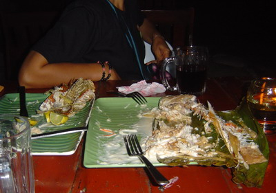 remains of fish