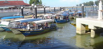 small ferry boats in Besut harbour