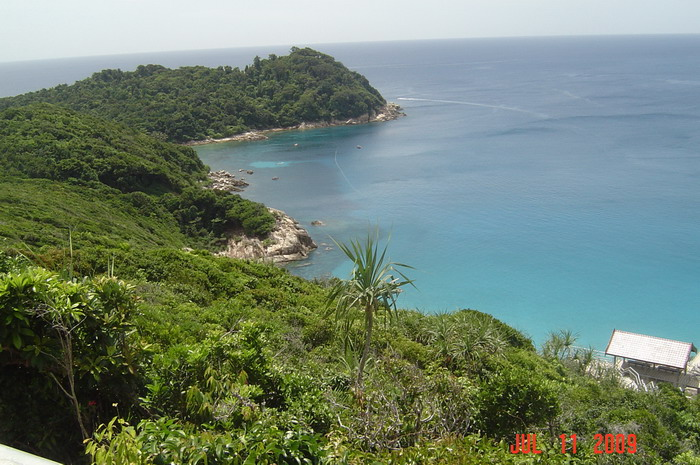 D'Lagoon bay, with coral ...