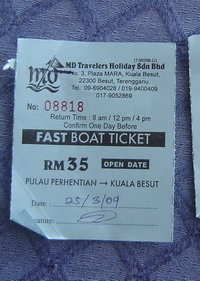 boat tickets...