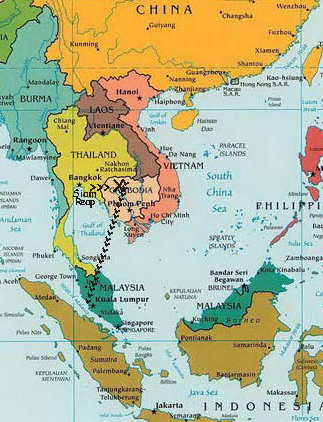 southeast asia siam reap to kuala lumpur