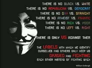 there's no divide between us, it's us vs them