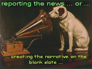 masters voice - reporting news or writing on blank slate!