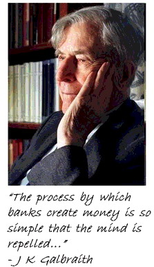 J K Galbraith pic and quote