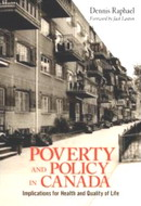 book cover - poverty and policy in Canada