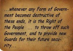 declaration of independence, whenever a government becomes destructive ...